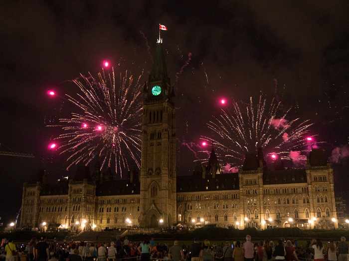 new year fireworks canada