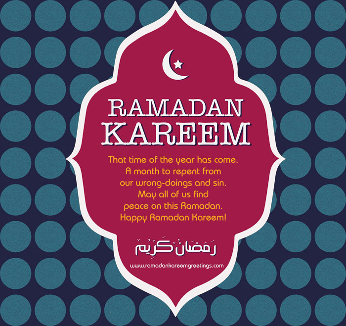 Ramadan Mubarak Greetings Wishes in English