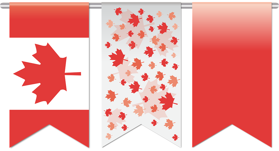 Canada Day Flag Art