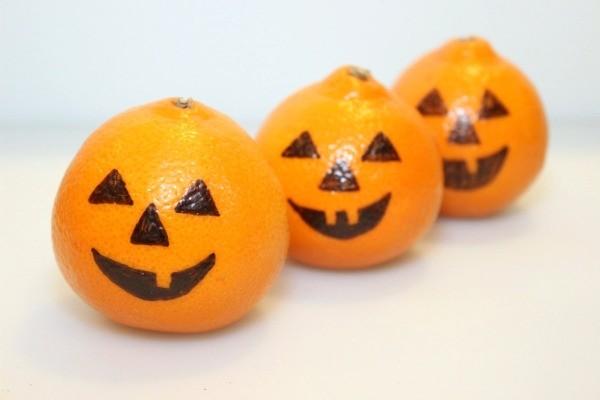 Orange Jack-O-Lanterns Lamps For Kids