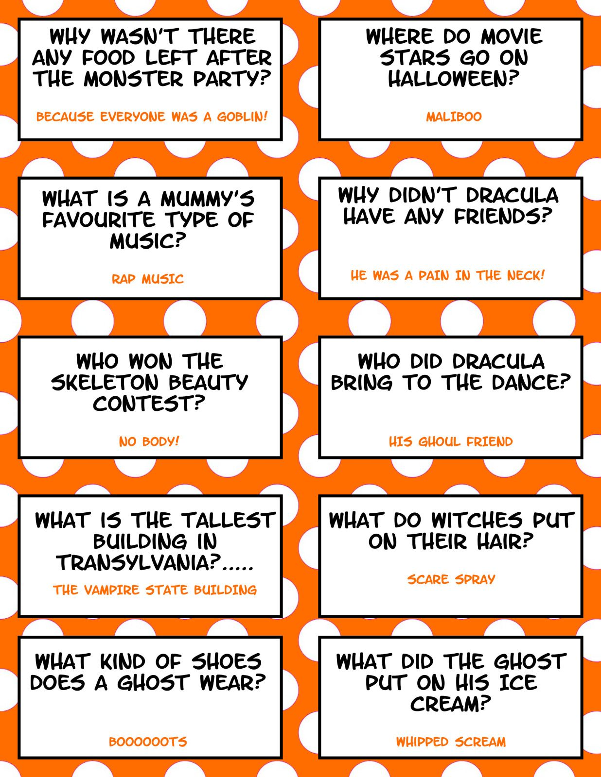 Scary Halloween Jokes and Riddles