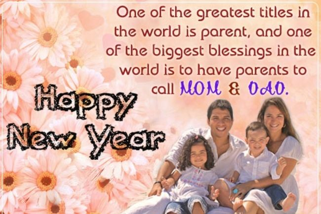 Best Happy New Year Wishes for Parents