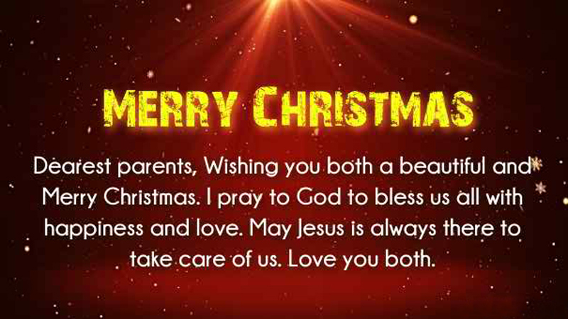Happy Christmas Wishes Messages For Parents From Children