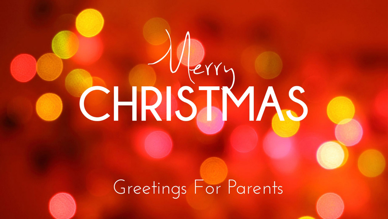 Merry Christmas Wishes For Parents